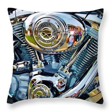 V-twin Blue Throw Pillow