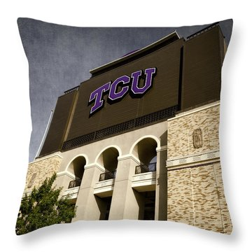 Tcu Stadium Entrance Throw Pillow