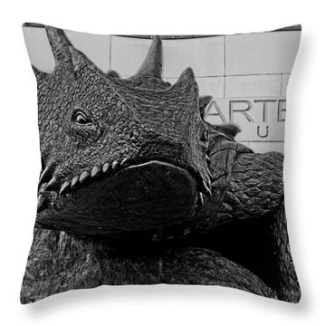 Tcu Horned Frog Black And White Throw Pillow