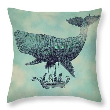 Tea At Two Thousand Feet Throw Pillow by Eric Fan