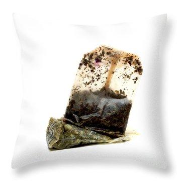 Tea Bag Throw Pillow by Bernard Jaubert
