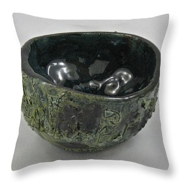 Tea Bowl #5 Throw Pillow