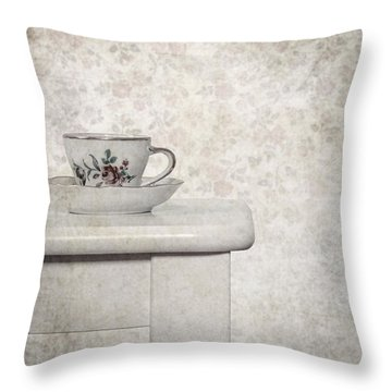 Tea Cup Throw Pillow by Joana Kruse