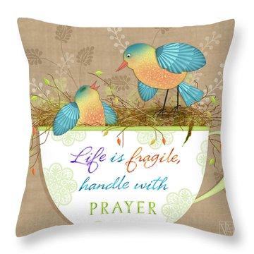 Tea Cup Wisdom Throw Pillow