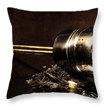 Tea Dipper Throw Pillow by Tommytechno Sweden