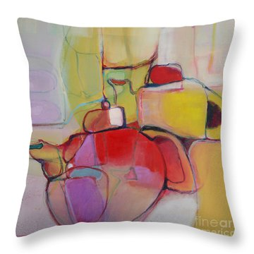 Tea For Two Throw Pillow by Michelle Abrams