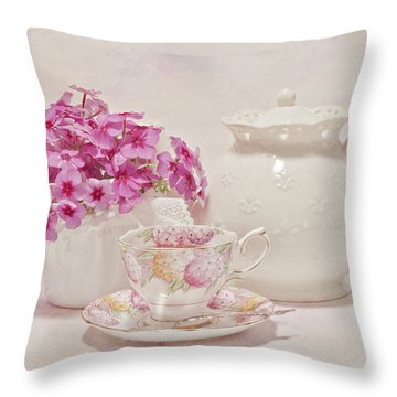 Tea For You Throw Pillow by Sandra Foster