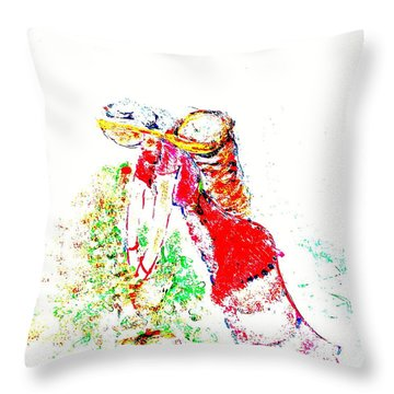 Tea Girl From Northeast India Throw Pillow