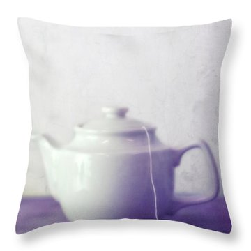 Tea Jug Throw Pillow by Priska Wettstein