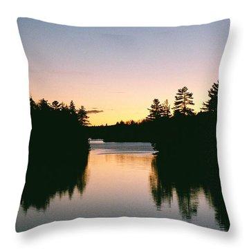 Throw Pillow featuring the photograph Tea Lake Sunset by David Porteus