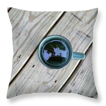 Tea Leaves Throw Pillow by Lon Casler Bixby