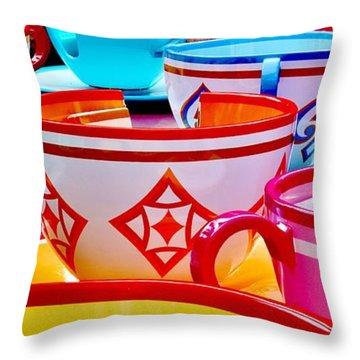 Throw Pillow featuring the photograph Tea Party by Benjamin Yeager