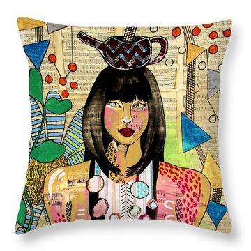 Tea Pot Hot Throw Pillow