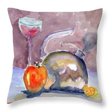 Tea Pot Throw Pillow by Marsden Burnell