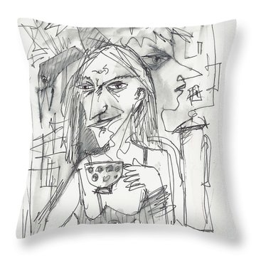 Tea Time 1 Throw Pillow