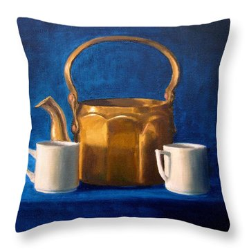 Throw Pillow featuring the painting Tea Time by Janet King