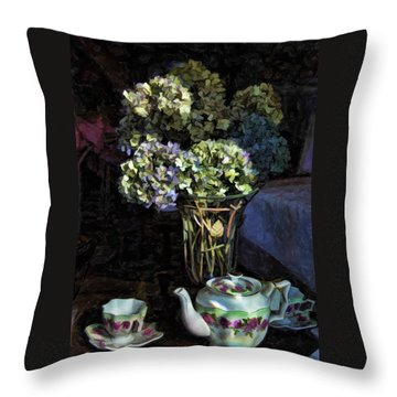 Tea Time Throw Pillow by Kenny Francis