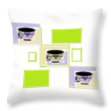 Tea Time Throw Pillow by Ann Calvo