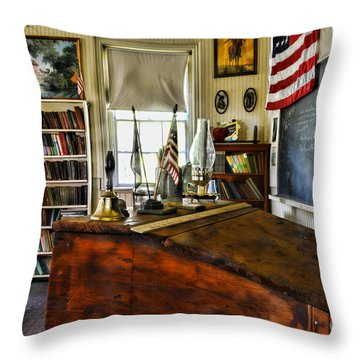 Teacher - Vintage Desk Throw Pillow