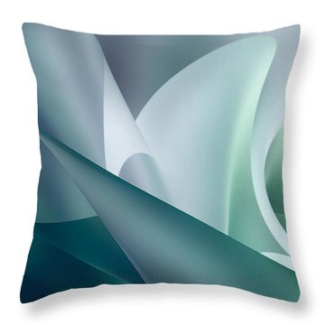 Teal Beam Throw Pillow