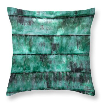 Teal Water Panels Throw Pillow