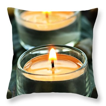 Tealights Throw Pillow by Elena Elisseeva