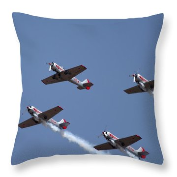 Team Work  Throw Pillow by Ramabhadran Thirupattur