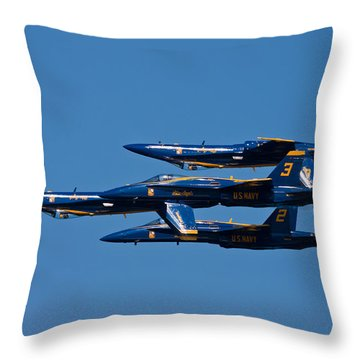 Teamwork Throw Pillow by Adam Romanowicz