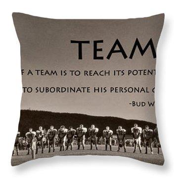 Teamwork Throw Pillow by Lori Deiter