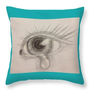 Tear Throw Pillow