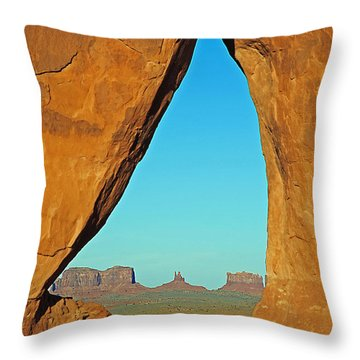 Tear Drop Arch Monument Valley Throw Pillow