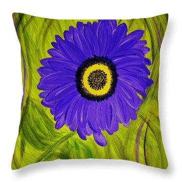 Tear Drop Throw Pillow by Celeste Manning