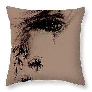 Tear Throw Pillow by Rachel Christine Nowicki