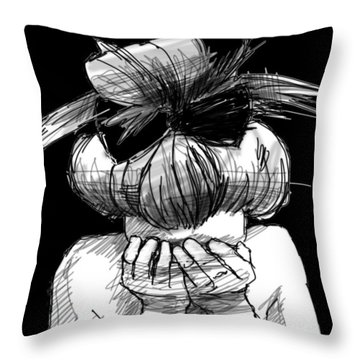 Tears Throw Pillow by H James Hoff