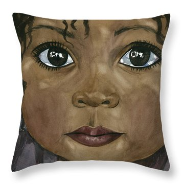 Ebony's Tears Throw Pillow