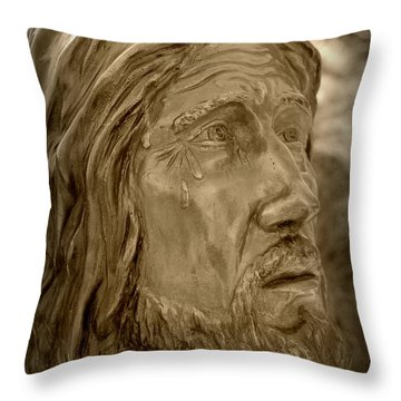 Tears Of Jesus Throw Pillow