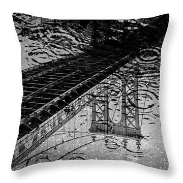 Tears Of New York Throw Pillow