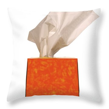 Tears Quencher  Throw Pillow by Olivier Le Queinec