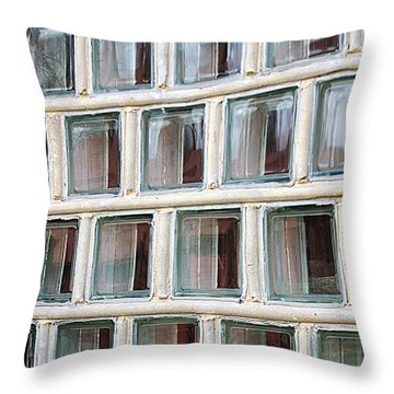 Throw Pillow featuring the photograph Technocratic Windows by William Selander