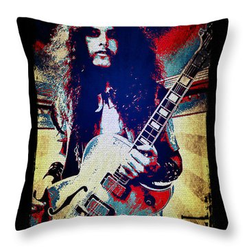 Ted Nugent - Red White And Blue Throw Pillow by Absinthe Art By Michelle LeAnn Scott