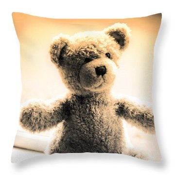Throw Pillow featuring the photograph Teddy B by Aaron Berg