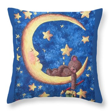 Teddy Bear Dreams Throw Pillow