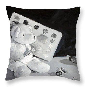Teddy Behr The Painter #2 Throw Pillow by Dan Redmon