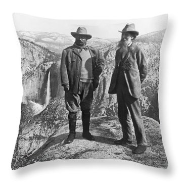 Teddy Roosevelt And John Muir Throw Pillow
