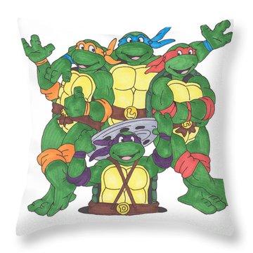 Teenage Mutant Ninja Turtles  Throw Pillow by Yael Rosen