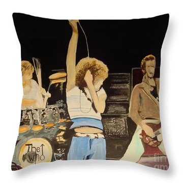 Teenage Wasteland Throw Pillow by Stuart Engel