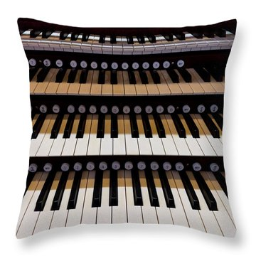 Teeth Of An Instrument Throw Pillow