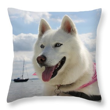 Throw Pillow featuring the photograph Tehya by Vicki Spindler