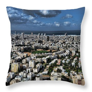 Throw Pillow featuring the photograph Tel Aviv Center by Ron Shoshani