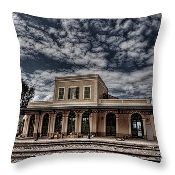 Throw Pillow featuring the photograph Tel Aviv First Railway Station by Ron Shoshani
